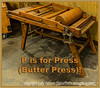 P is for Press (Butter Press)!