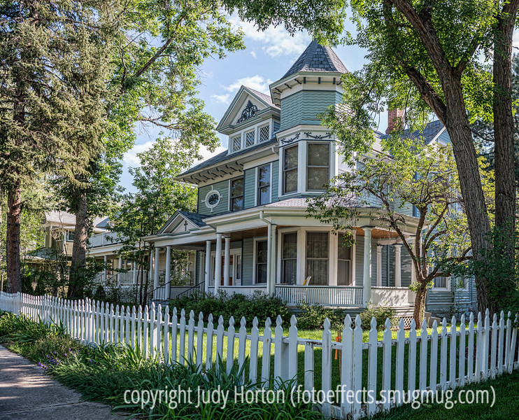 9/18/14 - House on Nevada Avenue, Colorado Springs; Colorado Springs has an abundance of wonderful old houses.<br /> <br /> Thanks for your comments on my shot of the old T-bird.
