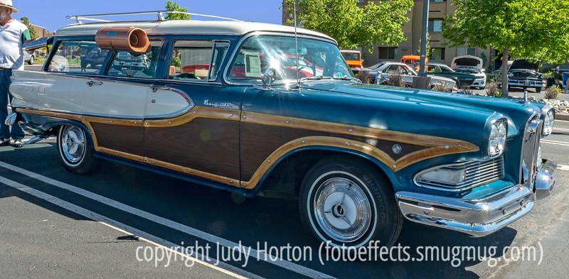 Old Edsel Woody Station Wagon