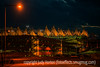Denver Airport at Night, with a few painterly effects