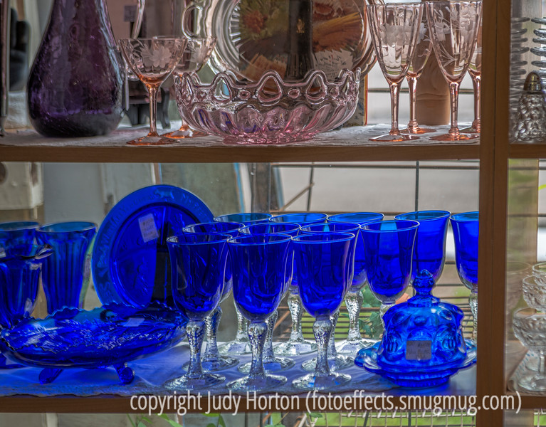 Cobalt Blue Glass at the Antique Store