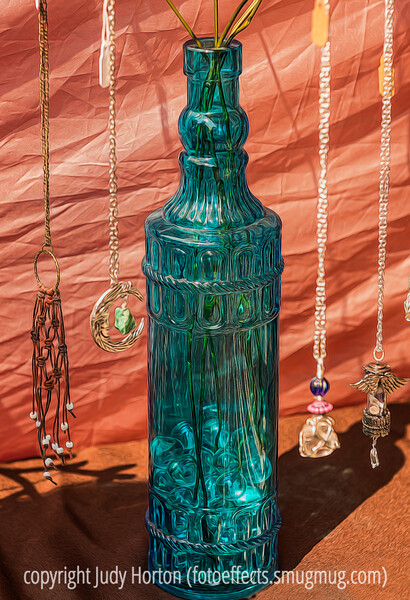 Glass Bottle and Jewelry