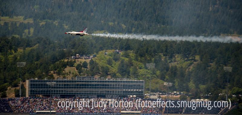 Thunderbird Over U.S. Air Force Academy Statium at Graduation
