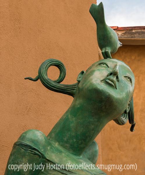 Sculpture Outside a Santa Fe Gallery