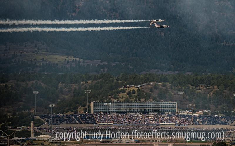 Thunderbirds Over the USAFA Stadium at Graduation