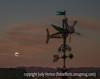 Harvest Moon Setting Near Pike's Peak