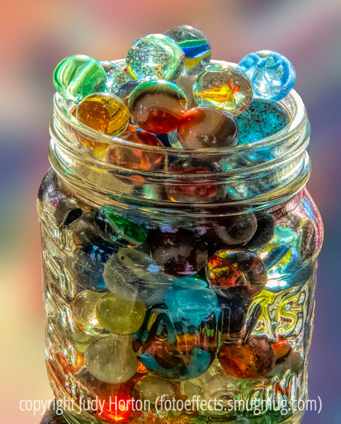Still Life with Marbles - I have actually posted 3 shots this morning, this one and 2 of a very rare atmospheric rainbow phenomenon.