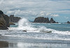 3/8/15 - Waves breaking on the  rocks on Bandon Beach (one of the shots from a file of completely unprocessed images I recently discovered and processed)<br /> <br /> Thanks for your comments on the shot of the bar in the ferry terminal in Seattle.  Much appreciated.