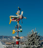 Sculpture by James Eaton in Snow - from the deck