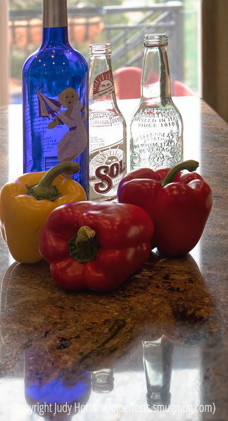 Bell Peppers with Bottles