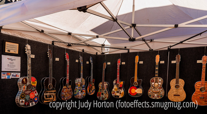 Guitar Art by Todd Perkins at the Cherry Creek Art Festival