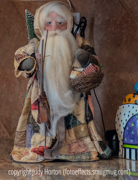 Patchwork Santa - one of my collection