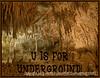 U is for Underground!