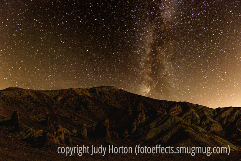 Milky Way Over Death Valley - a Composite Image