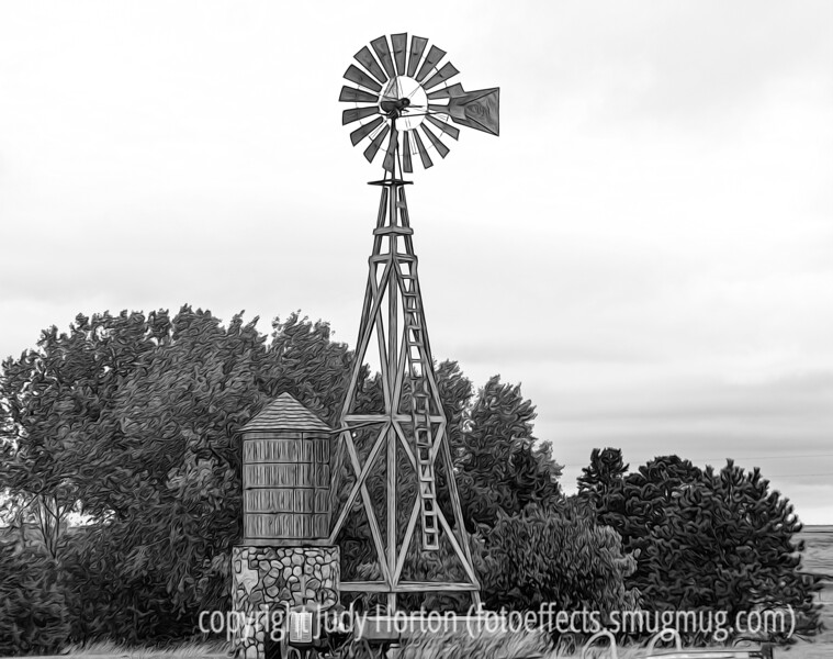 Windmill in North Texas