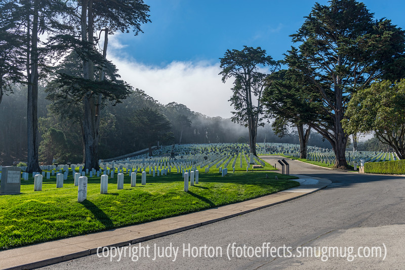 "National Veterans Cemetery in San Francisco - Some Gave All!  (I very much enjoyed your ""X"" entries for the alphabet challenge yesterday.  Only two more weeks to go!"