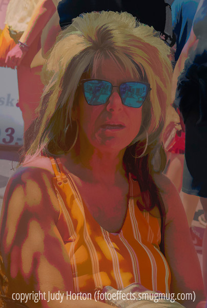 At the Cherry Creek Fine Arts Festival - a posterized version