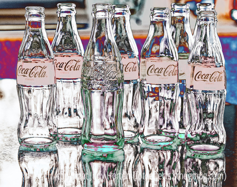 Coke Bottles with a number of PS effects applied