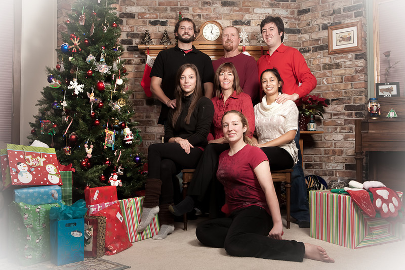 MERRY CHRISTMAS TO ALL!  <br /> <br /> Here's a preview of the portraits we took on Christmas Eve.  My family wishes everyone a merry Christmas!  We had tons of fun on Christmas Eve.  The best present was spending time with our family!  Nini and I fly to India today and will be there for the next three weeks.  We have lots of fun stuff planned and we can't wait to see her family soon.  Stay tuned for some views from India!<br /> <br /> Merry Christmas and happy holidays everyone!<br /> <br /> Daily photo: Dec 25, 2011, taken Dec 24, 2011