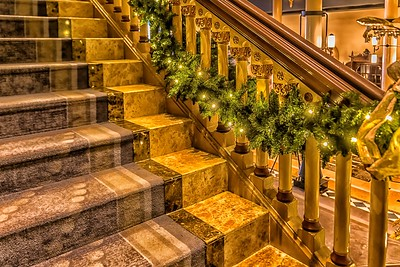 Stairs at Driskill Hotel in Austin
