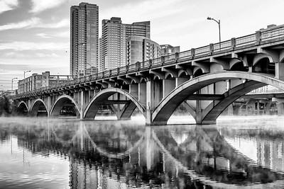 Lamar Street Bridge in B/W