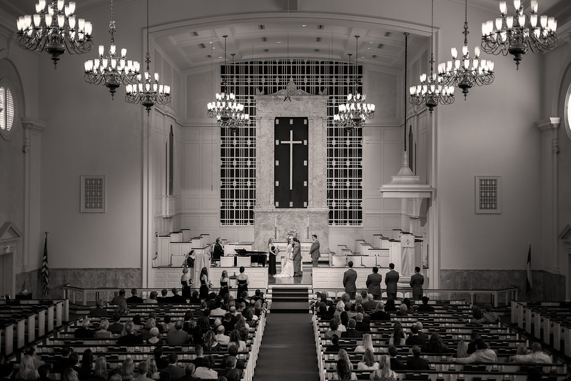 "Dramatic Grandeur, Houston TX  I was very lucky to assist the amazing <a href=""http://www.thesilhouettestudio.com"">Sarah Williams</a> and the Silhouette Studio for Cara and Keyl's Houston wedding.  The wedding ceremony was held at the magnificent St. Lukes United Methodist church in downtown Houston.  Cara was so nice and easy going.  She's an awesome person and Keyl is one lucky guy!  Sarah did a great job at this wedding, coordinating herself and two assistants to get lots of amazing shots from every angle.  This was a difficult venue to shoot because we were not allowed to shoot inside the room, except from the back balcony.  So naturally I concentrated on the wide shots and composed the scene as if it were a landscape.  The 50mm was the perfect landscape focal length for being way back in the balcony and it produced a lot less lens distortion than my 24mm.  It was really fun working with a team of three photographers; we had a great time hanging out.  Check out <a href=""http://www.thesilhouettestudioblog.com/2013/04/gardens-of-bammel-lane-houston-wedding.html"">Sarah's blog post</a> for more awesome photos from this wedding!  Critiques are always welcome.  Daily photo: April 30, 2013, taken April 20, 2013"
