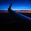 """11/13/08 Flew back to LA super early after being in Tucson for my brother's guitar recital (see <a href=""""http://jawsnap.smugmug.com/gallery/4429824_zbVM5#416647992_kC8Jg"""">yesterday's daily</a>). The sun didn't really rise until right about the time we landed at LAX, but leading up to that, there were some great pre-sunrise colors in the sky. I set the white balance to tungsten to better capture what my eyes saw. Auto and all the other presets didn't come close to getting the blue of the sky."""
