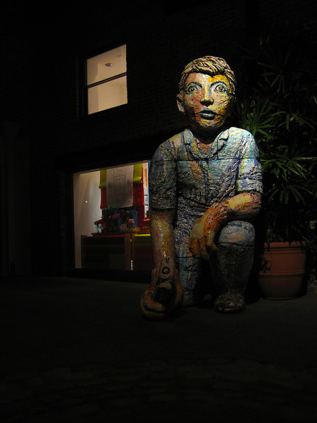 Hammer Boy Statue