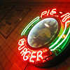 5/13/08<br /> Neon clock at Pie 'n Burger in Pasadena. It's a tiny little restaurant with tasty (and highly rated) food - been around since '63. I had a patty melt and a slice of cherry pie covered in real whipped cream. Delish.