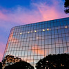 10/15/08<br /> Sunset reflection in the Union Bank of California building on Wilshire - one of those office buildings that's completely covered in mirror-like windows. I had predicted an awesome sunset today, but I admit I had to up the saturation in this photo. It was a nice sunset, but nothing too special. We've had some major fires in the LA area this week, so I thought the smoke would affect the air more, but it's all drifting out to sea North of where I live.