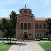 5/15/08<br /> Very symmetrical photo of Powell Library at UCLA. The interesting thing about this photo is that it was taken from a balcony at Royce Hall - not ground level. I lucked out because the door was supposed to be locked.