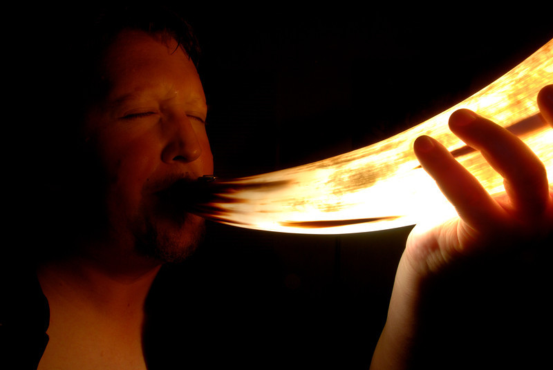 Cow Horn Glowing