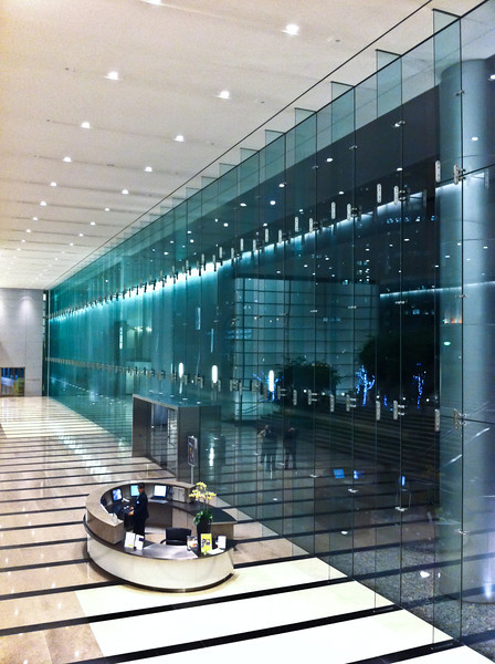 """<span id=""""date"""">_10/28/10_</span> <span id=""""title"""">Pod</span> This is the interior of the CAA building in Century City. It also made an appearance on <a href=""""http://www.jawsnap.net/Daily/year3/11272102_ACXDJ#881369815_dowqs"""">5/27/10</a>.  As usual, I was here for a lecture at the <a href=""""http://www.annenbergspaceforphotography.org/"""">Annenberg Space for Photography</a>. Tonight was Stephen O'Meara, who travels around the world with his wife Donna, observing volcanoes. Their theory is that volcanic activity is tied to the lunar cycle, and they've observed countless eruptions that peak at the same time as the maximum tide. It was really interesting and I'm happy that in a few cases that theory has actually saved lives. Unfortunately there is a negative stigma in the scientific community regarding anything to do with the moon, so not all vulcanologists are on board.  I'm planning on going to the next 2 or 3 lectures, so hopefully I'll have more good reports to give.  <a href=""""http://www.jawsnap.net/Daily/year2/7157835_BfJPF#696016680_xVcjV"""">[last year]</a>"""