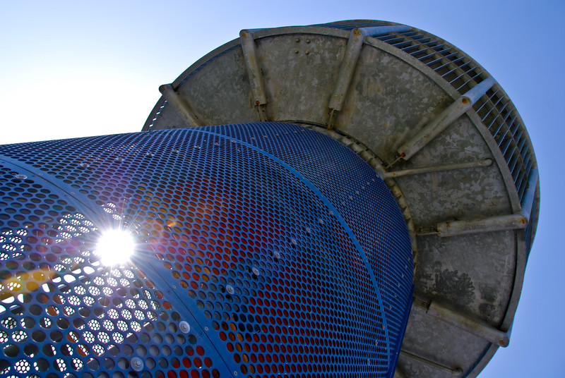 """<span id=""""date"""">_05/08/10_</span> <span id=""""title"""">Towering Cage</span> This imposing structure is a play tower at Clover Park, site of today's Santa Monica Festival which I attended briefly. It was fun - I hope to go again next year. I'd never been to the park before and I immediately noticed this cool tower. I just might have to go up it myself sometime...  <a href=""""http://www.jawsnap.net/gallery/7157835_BfJPF#531711259_6fqKN"""">[last year]</a>"""