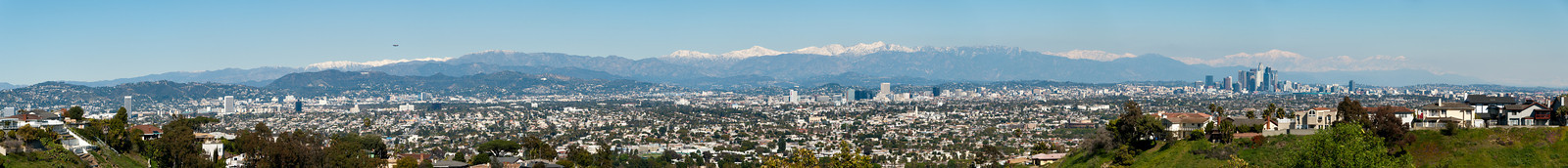__02/27/11__ Los Angeles Panorama This is an 11-shot panorama of Los Angeles, taken from Kenneth Hahn State Recreation Area. Many photographers flock to this park to get photos like this after storms when the mountains are covered in snow. There's some atmospheric distortion, but overall I'm pretty happy with the level of detail in this image. Because even SmugMug's X3 size is ill-suited to viewing panoramas of this size, I've put it up on Zoom.it so you can see the details:  http://zoom.it/ZUbD  Here are some things to look for: Hollywood sign, Goodyear blimp (covering the Oscars), Griffith observatory, an enormous T-Mobile ad, a building at Forest Lawn in Glendale, Wilshire Blvd, West Angeles Cathedral, Paramount Studios, a glimpse of USC, and the tallest US building West of the Mississippi.  Find them all and you will WIN!  [last year] so cute...
