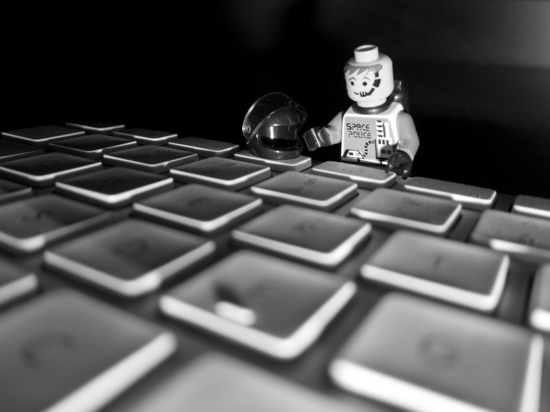 "<span id=""date"">__01/25/11__</span> <span id=""title"">Press for Dashboard</span> Today's desperation shot features a little Lego man standing over the F3 button of my keyboard. On my Mac, it brings up the dashboard. Isn't that fascinating? I took it with my S95 and I got the low angle lighting by... wait for it... turning the camera upside down! Also fascinating. Stay tuned for tomorrow's shot, I hope to set up my fifth and final (for now, anyways) water drop photo! And if that isn't fascinating then, well, I just give up.  <a href=""http://www.jawsnap.net/Daily/year2/7157835_BfJPF#773716231_knGzp"">[last year]</a> <em>mmm, these are back in season...</em>"