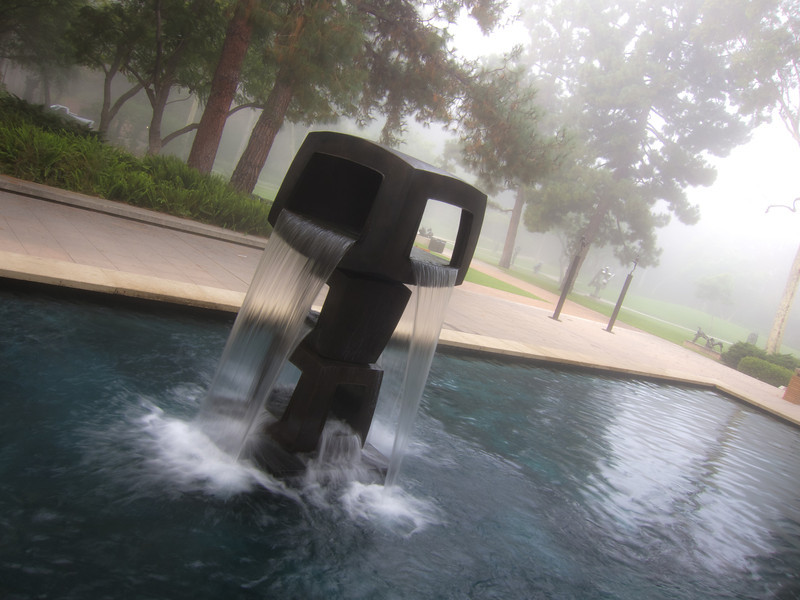 Fountain and Fog