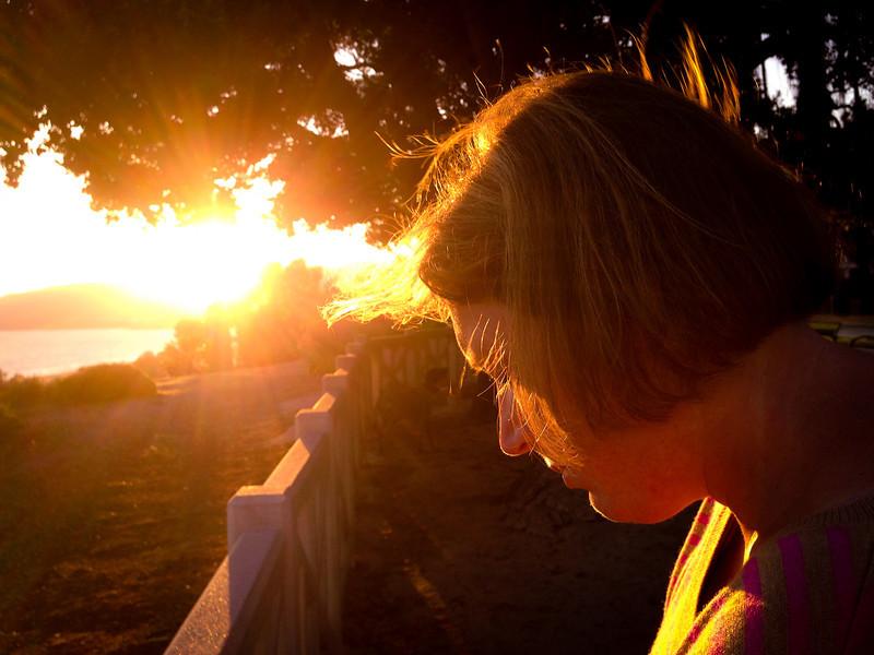 Ann at Sunset
