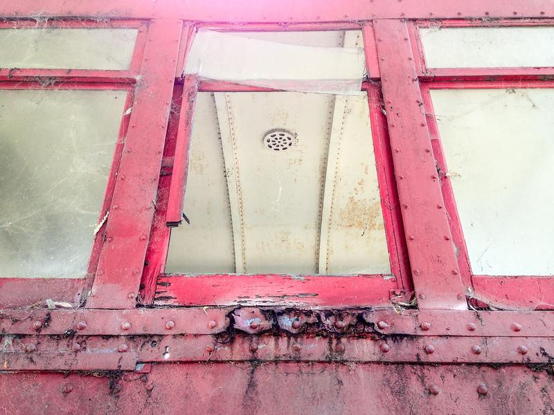 Red Car Windows
