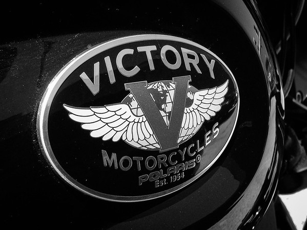 Victory motorcycles tank logo.