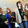 ORGAN<br /> Left to right, Jinny Oliver, Nancy Shetler, Stephanie Lamirato and Georgia Andrews listen while Mary Lamirato and organ recipient Justin Greene describe their experiences in the donation of Jared's Greene's heart.<br /> Photo by Marty Caivano/Camera/Dec. 14, 2010