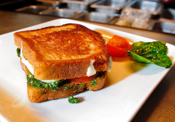 GLUTENFREE<br /> Grilled Cheese with Pesto and Tomato, made by John Inderdohnen of Centereach, New York, was one of the contestants in a gluten-free recipe contest run by Rudi's Gluten Free Bakery at Restaurant 4580.<br /> <br /> Photo by Marty Caivano/June 24, 2011