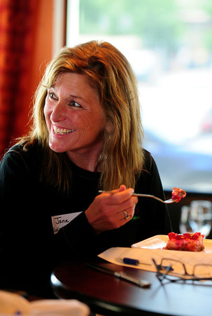 GLUTENFREE<br /> Jane Miller, the CEO of Rudi's Bakery, was one of four judges in a gluten-free recipe contest run by Rudi's Gluten Free Bakery at Restaurant 4580.<br /> <br /> Photo by Marty Caivano/June 24, 2011