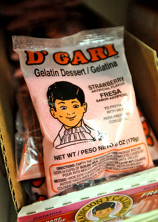 HISPANIC<br /> Dessert: D'Gari Gelatin Dessert, $1.25 per package. Mexican gelatin comes in all kinds of flavors: chocolate, apple, pistachio, vanilla, walnut. Ramirez's favorite flavor is Fresa (strawberry). Try making it with milk instead of water for a thicker, richer dessert. <br /> Photo by Marty Caivano/Camera/Sept. 2, 2010
