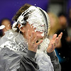 "PIE<br /> Shannon Minch, an administrator at Boulder High School, takes a pie to the face during the school's Winter Rally on Tuesday. The pie-throwing event raised an additional $110 toward the $3500 the school plans to collect for the Adopt-A-Family program. For a photo gallery from the event, visit  <a href=""http://www.dailycamera.com"">http://www.dailycamera.com</a>.<br /> Photo by Marty Caivano/Camera/Dec. 1, 2010"