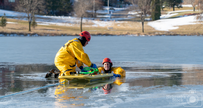 12-19-2018<br /> <br /> 353/365<br /> <br /> Members of Norfolk Fire&Rescue train on Ice Rescue out on Skyview Lake. <br /> <br /> Photo taken with a Sony A6300 with a Sony 18-105<br /> <br /> ISO 125<br /> <br /> 1/750th at F4<br /> <br /> (235634)
