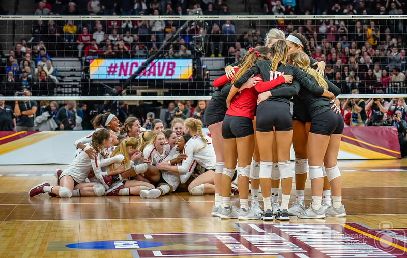 12-15-2018<br /> <br /> 349/365<br /> <br /> The Stanford volleyball team defeated Nebraska in an amazing five sets to claim the NCAA Championship. <br /> <br /> Photo taken with a Sony A7rIII with Sony 24-105<br /> <br /> ISO 4000<br /> <br /> 1/800th at F4<br /> <br /> Picture No. 230624
