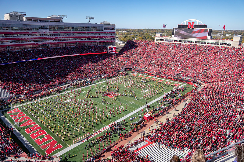 10-20-2018<br /> 293/365<br /> The Nebraska and Minnesota marching bands play before the football game Saturday afternoon at Memorial Stadium. <br /> Photo taken with a Sony RX 10<br /> ISO 160<br /> 1/1000th at F4<br /> Picture No. 183787