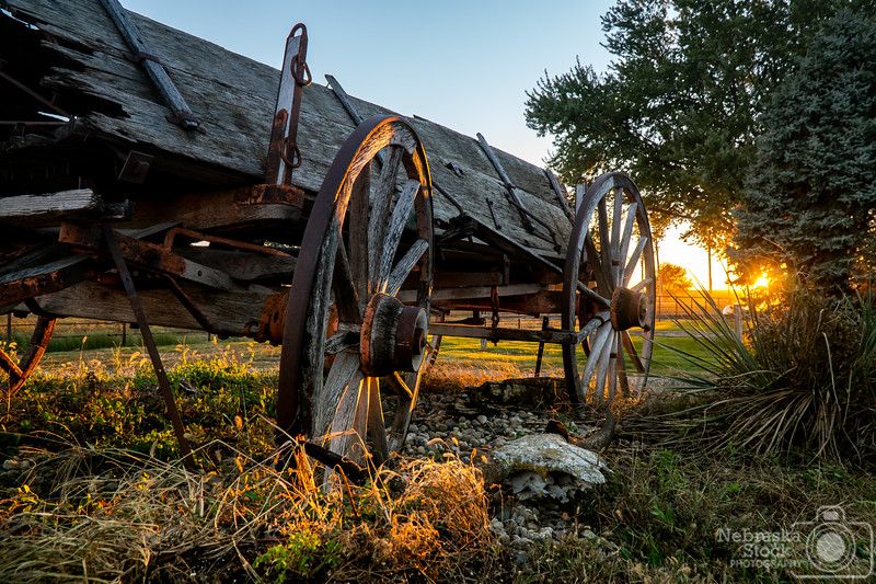 10-16-2018<br /> <br /> 289/365<br /> <br /> An old wagon soaks up the rays of the sunset in Pierce County Tuesday night. <br /> <br /> Photo taken with a Sony A6300 with a Sony 18-105<br /> <br /> ISO 400<br /> <br /> 1/45th at F8<br /> <br /> Picture No. 180074