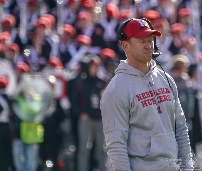 11-03-2018<br /> <br /> 307/365<br /> <br /> Scott Frost, Nebraska's head football coach, reacts to play late in the third quarter against Ohio State. <br /> <br /> Photo taken with a Sony A9 with a Sony FE 100-400<br /> <br /> ISO 3200<br /> <br /> 1/1250th at F11<br /> <br /> Picture No. 197102